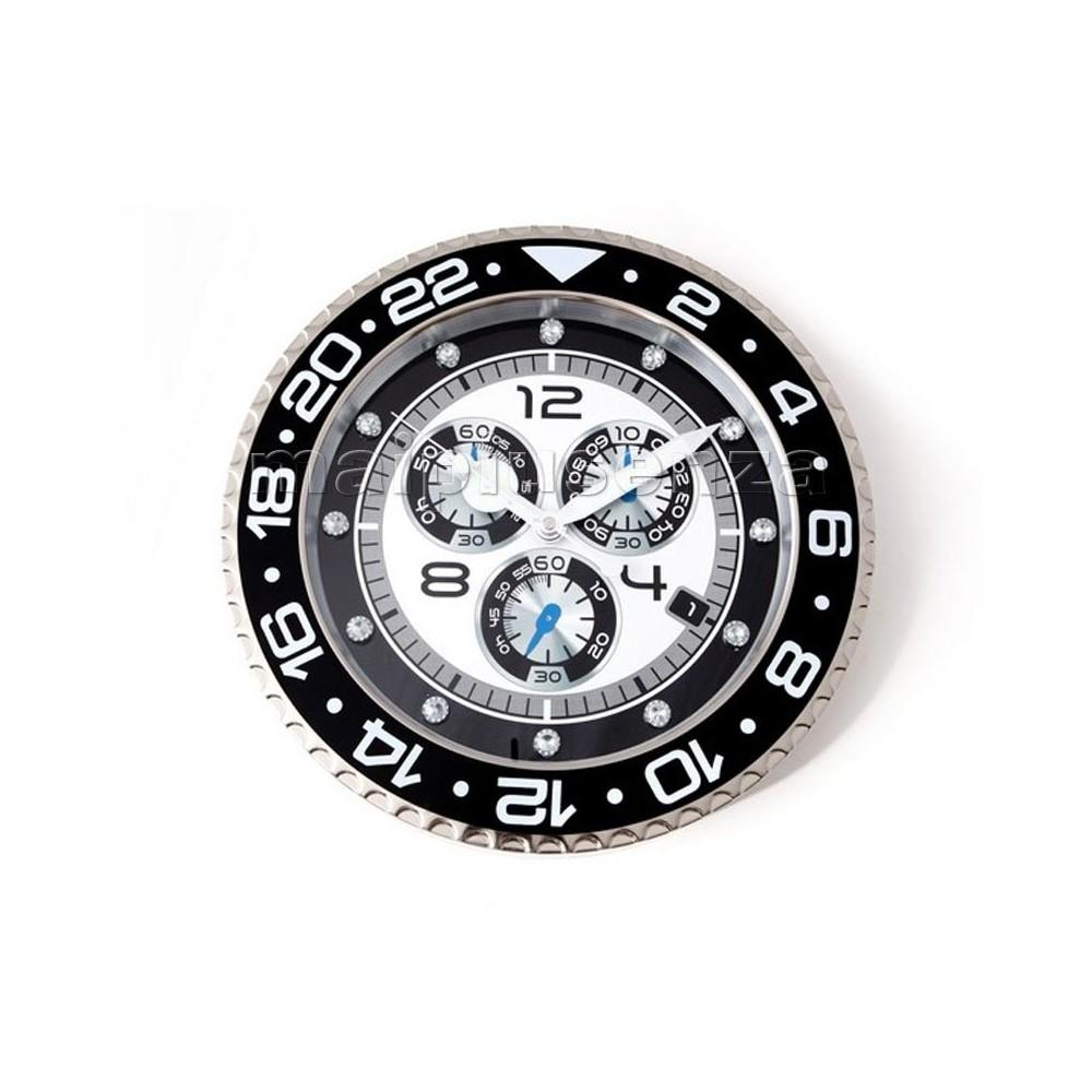 Watch clock orologio da muro stile cronografo rolex for Orologio da muro farfalle