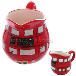 Lattiera London bus brocca autobus rosso in ceramica idea regalo souvenir Londra