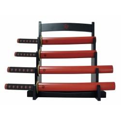 Ceppo coltelli da cucina Katana Ninja con stand - Spada samurai