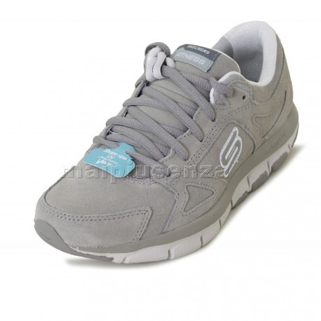 Skechers Shape-ups Liv - Donna 99999756-CCL - Scarpe fitness dimagranti - Nabuk Grigio Chiaro