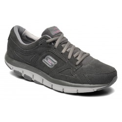 Skechers Shape-ups Liv - Donna 99999756-CCPK Tg. 38- Scarpe fitness dimagranti - Nabuk Grigio Scuro