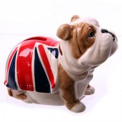 Salvadanaio Bulldog Inglese con bandiera