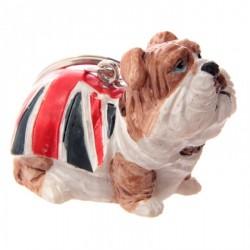 Portachiavi Bulldog Inglese con Bandiera Britannica - 2 modelli