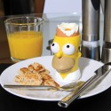 Simpsons Egg Cup with Toast Stamp & Cutter- Kit portauovo Testa di Homer con stampi