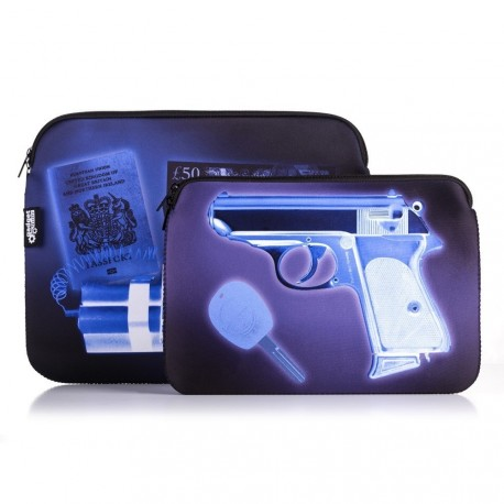 Borsa Porta Tablet da Agente Segreto - New Edition - raggi X - 10""