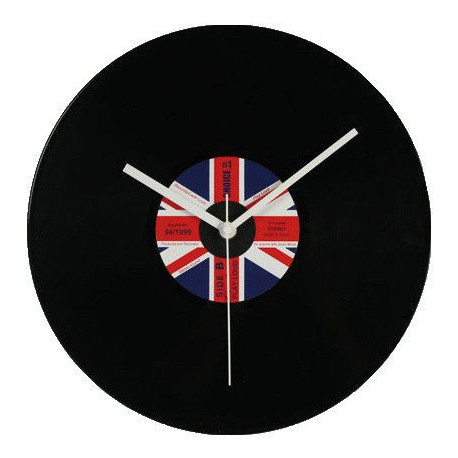 "Orologio ""LP"" 30 cm disco in vinile UK"