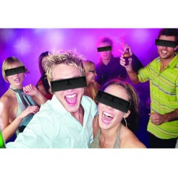 "Occhiali da sole ""censura"" - Black bar glasses"