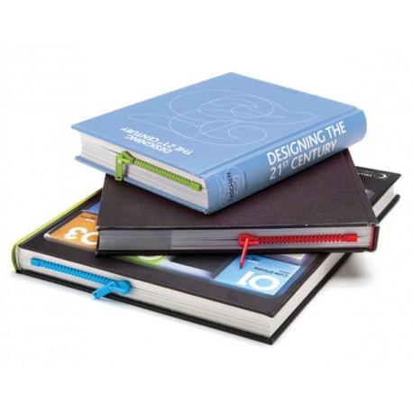 "Segnalibro ""ZIP"" Azzurro - Zipper book mark - blue"