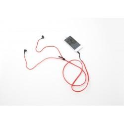 Cuffie auricolari ZIP - Zipper Earphones - Rosso o Verde