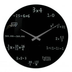 Orologio Formule Matematiche NERO   33 - vetro