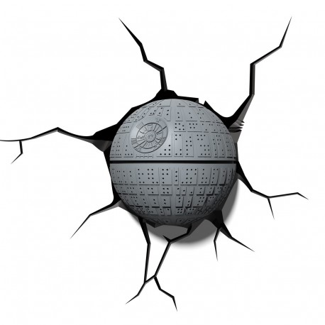 3D Star Wars Lil Death Star Light - Lampada led da muro Morte Nera