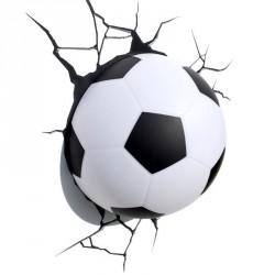 Pallone Calcio 3D - Lampada da muro 3DlightFX
