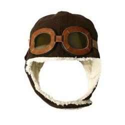 Cappello da Aviatore per Bambini - casco con occhiali antivento finti