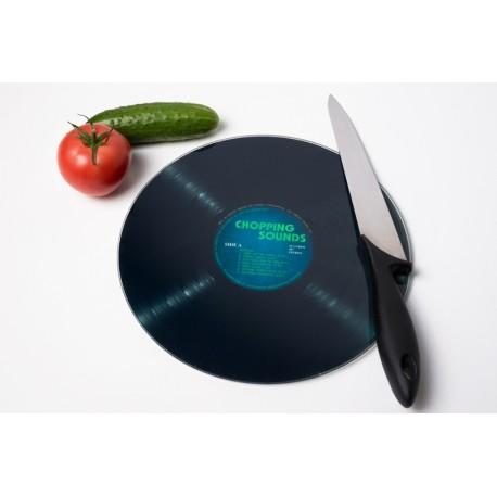 Tagliere/vassoio disco in vinile LP in vetro