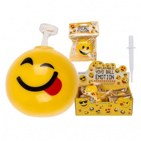 Pallina Bubble YoYo-Ball gonfiabile, Emotion, fino a ca. 40 cm - Emoticon