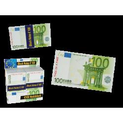 Block Notes, Banconote 100 € Euro