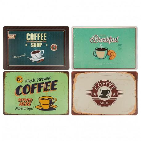 "Tovaglietta da tavola in polipropilene, ""Coffee"", ca. 44 x 29 cm disegni assortiti"