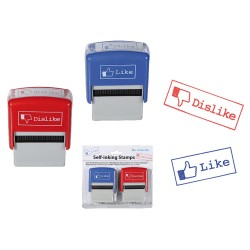 Set 2 timbri facebook, Like-Dislike FB, ca. 6,5 cm