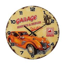 Orologio in vetro da parete , Garage (arancione), D: ca. 30 cm