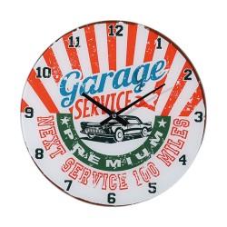Orologio da parete in vetro, Garage Service (bianco/rosso), D: ca 30 cm