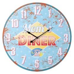 Orologio da parete in legno, Mom's Diner, D: ca. 58 cm