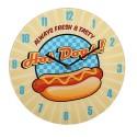 Orologio da parete in vetro, Hot Dogs, D: ca. 30 cm