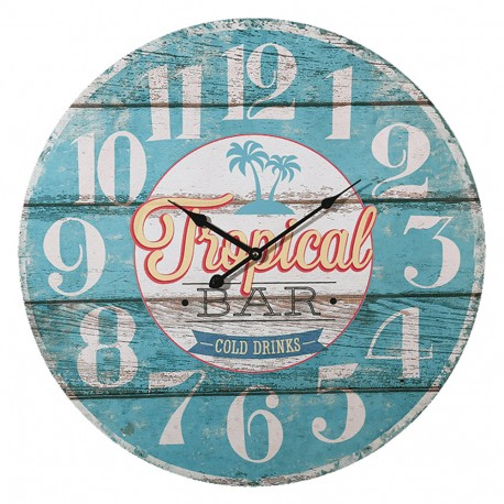 Orologio da parete in legno, Tropical Bar, D: ca. 58 cm