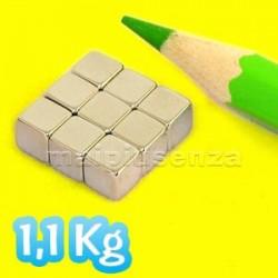 Cubi 5 mm - 10 pezzi - Magnete al neodimio - calamita