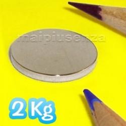 Disco 20x2 mm - 4 pezzi - Magneti al neodimio - calamite