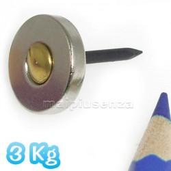 Anello con FORO svasato 15x3 mm forza 3Kg - 5 pezzi - Magneti al neodimio - calamite