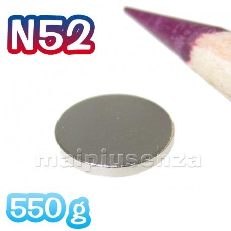 Disco 8x1 mm N52 (più potente) - 20 pezzi