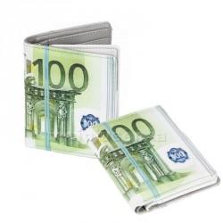 Portafoglio con stampa 100 Euro 10x11 cm