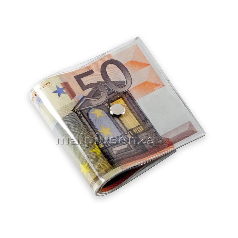 Fermaporta a mazzetta di banconote da 50 euro ferma - Porta tessere e banconote ...