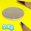 Disco 20x2 mm - 10 pezzi - Magneti al neodimio - calamite