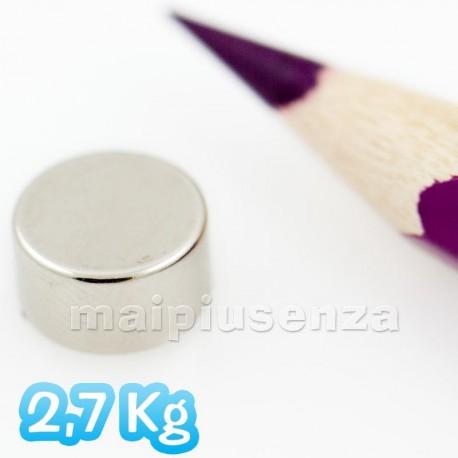 Disco 9x5 mm - 5 pezzi - Magneti al neodimio - calamite 2,7 Kg