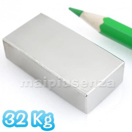 Blocco 40x20x10 mm - 1 pezzo - Magnete al neodimio - calamita