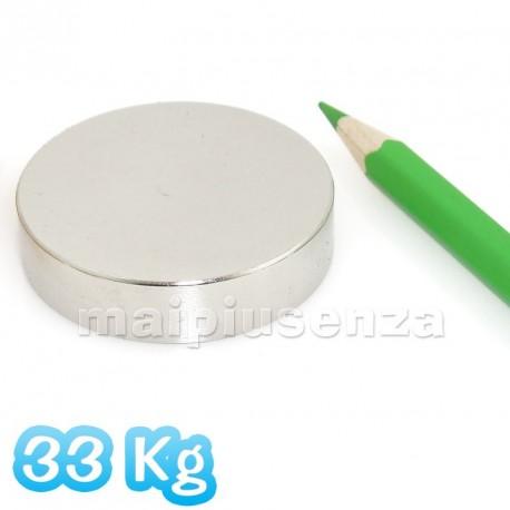 Disco 42x10 mm - 1 pezzo - Magnete al neodimio - calamita 33 Kg