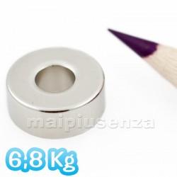 Anelli 15x6 mm (foro 6 mm) - 5 pezzi - Magneti al neodimio - calamite