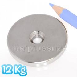 Anello con FORO svasato 40x4 mm forza 12 Kg - Magnete al neodimio - calamita