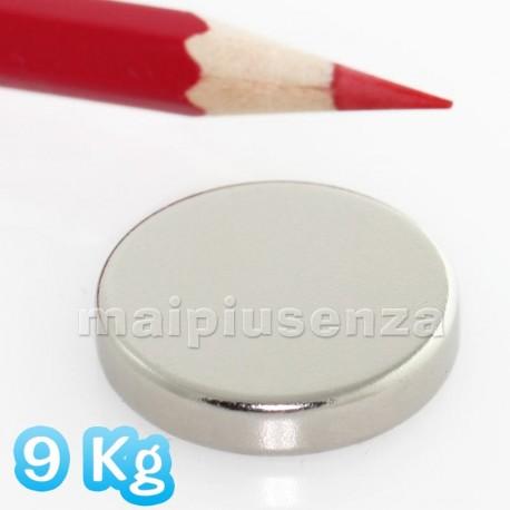 Disco 25x5 mm - 2 pezzi - Magneti al neodimio - calamite 9 Kg
