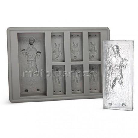 Stampi ghiaccio/cioccolata Han Solo nella grafite - in silicone